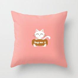 Hug Me Nyanko Throw Pillow