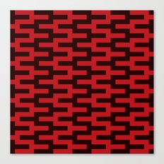 Black & Red Zigzag Canvas Print