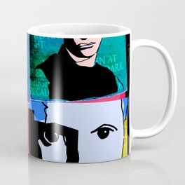 DYLAN THOMAS (FUNKY-COLOURED 4-UP COLLAGE) Coffee Mug