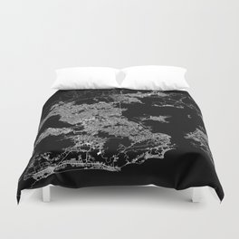 Rio map Brazil Duvet Cover