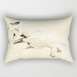 Lucy - Chinese Crested Rectangular Pillow