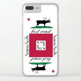 Best Coast By Avte Clothing. Clear iPhone Case