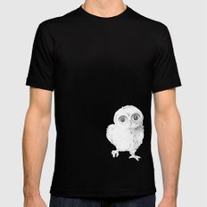 Sweet Little Owl SMALL Black Mens Fitted Tee