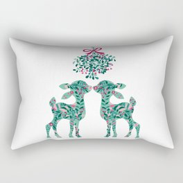 fawns and mistletoe Rectangular Pillow