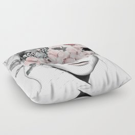 WOMAN WITH FLOWERS 10 Floor Pillow