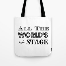 All the world's a stage William Shakespeare Typography Tote Bag