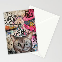 """Cat"" illustration Stationery Cards"