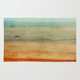 Abstract Seascape No 4: the beach Rug