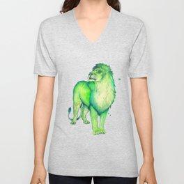 Green Lion Unisex V-Neck