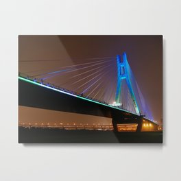Taiwan,Bridge Metal Print