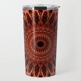 Brown and red tones mandala Travel Mug