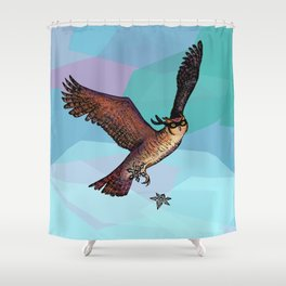 Owls are pretty much ninjas. | COLOR Shower Curtain