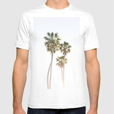 California Palms LARGE White Mens Fitted Tee