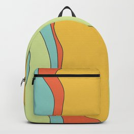 Curly lines of colour pattern Backpack