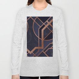 Violet Art Deco Long Sleeve T-shirt