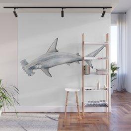 Hammerhead shark for shark lovers, divers and fishermen Wall Mural