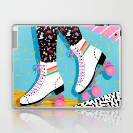 Steeze - 80's memphis rollerskating rad neon trendy art gifts throwback retro vibes Laptop & iPad Skin