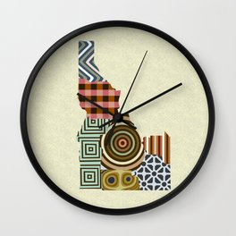 Idaho State Map Wall Clock