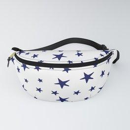 Stars - Navy Blue on White Fanny Pack