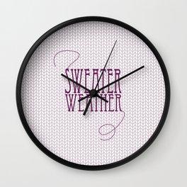 Sweater Weather... Wall Clock