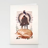 mulder Stationery Cards featuring Fable of Mulder and Scully by tumblebuggie