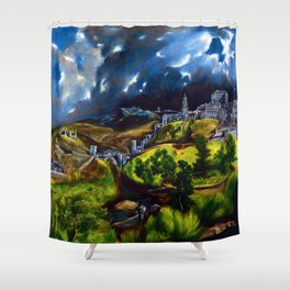 El Greco View of Toledo Shower Curtain