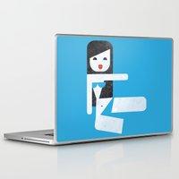 bikini Laptop & iPad Skins featuring Bikini (06) by Marco Recuero