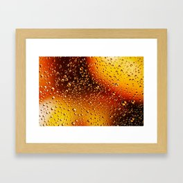 Colorful abstract wallpaper, waterdrops over multicolor background Framed Art Print