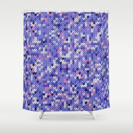 Knitted multicolor pattern 6 Shower Curtain