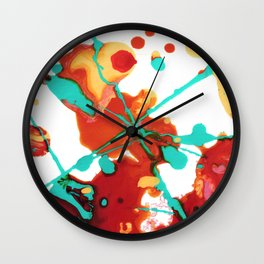 Paint Party 1 Abstract Wall Clock
