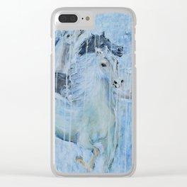 Spirit Horses Clear iPhone Case