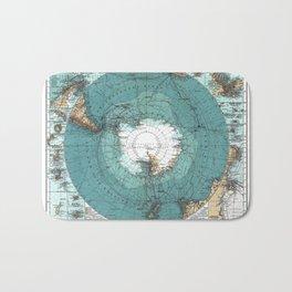 Antarctica Vintage map Bath Mat