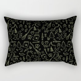 The Witch's Forest: Night Mode Rectangular Pillow
