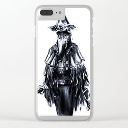 The Crow Lady Clear iPhone Case