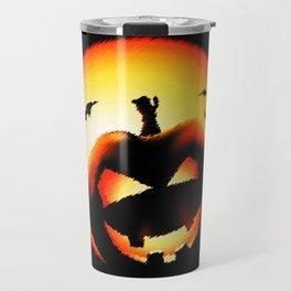 Smile Of Scary Pumpkin Travel Mug
