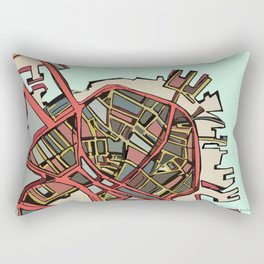 Abstract Map- Boston North End Rectangular Pillow