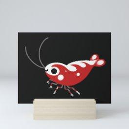 Red and blue shrimp Mini Art Print