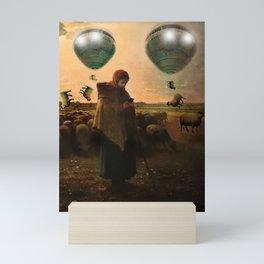 Distracted shepherdess Mini Art Print