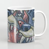 anxiety Mugs featuring Anxiety by Mallory Hodgkin
