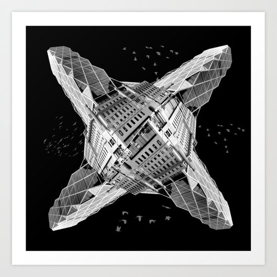 kaleidoscope  architecture Art Print