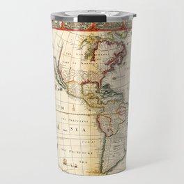 Map of North & South America by Thomas Bassett (1626) Travel Mug