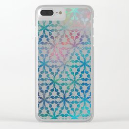 Flower of Life Variation - pattern 3 Clear iPhone Case