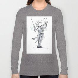 Funny Violin Illustration - The Dismount Long Sleeve T-shirt