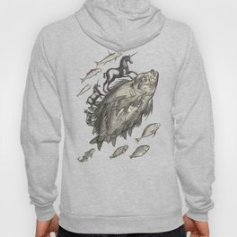 Wierd Fish and Unicorns Unite Hoody