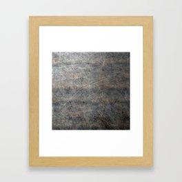 Scratched Suede Velvet Mouse - Navy Gradient Framed Art Print