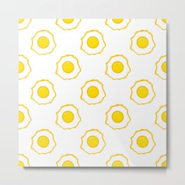 Eggs Pattern Metal Print