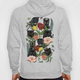 Botanical and Black Cats Hoodie