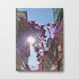 Sun & Street in Nafplio Metal Print