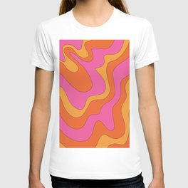Groovy 60's and 70's Retro Pattern T-shirt