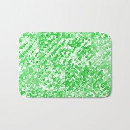 Green Delight (Squares) Bath Mat